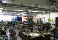 The Training Center has a full sheet metal shop dedicated to education.