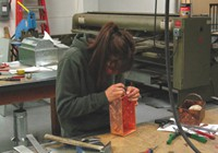 As fourth year students most apprentices get a chance to work with copper.